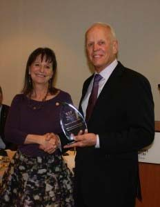 Cindi Sherwood, DDS, Dental Lifeline Network • Kansas president and honoree Thomas Schugel, DDS