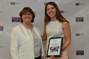 University of Detroit Mercy School of Dentistry graduate Mallory Lukas and Dr. Cheri Newman