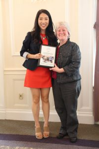 University of Pittsburgh School of Dental Medicine graduate Gail Kim and Dr. Lynne Taiclet