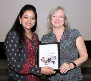 University of Washington School of Dentistry graduate Puja Agarwal and Dr. Susanne Jeffrey