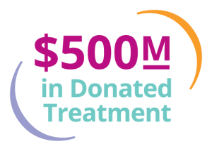 $500M In Donated Treatment