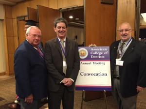 Dr. Bill Powell, Dental Lifeline Network • Tennessee Leadership Council Chair (left), Fred Leviton, Dental Lifeline Network President (center) and Dr. Frank Maggio, Dental Lifeline Network, Chairman